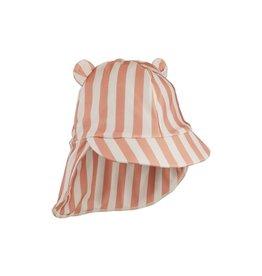 Liewood Senia sun hat - Stripe: Coral blush/creme de la creme