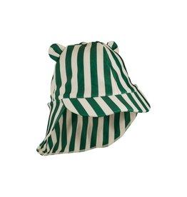 Liewood Senia sun hat - Stripe: Garden green/sandy