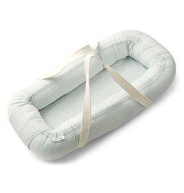 Liewood Gro Babylift / Baby nest - Y/D stripe: Sea blue/white