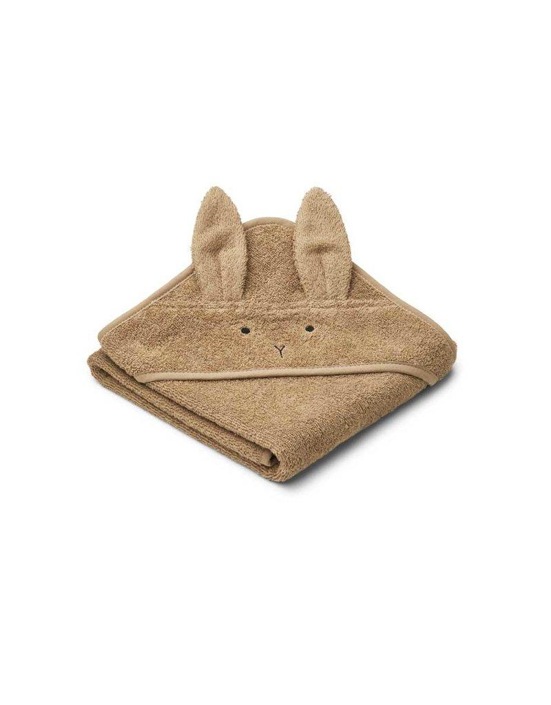Liewood Albert Hooded Baby Towel - Rabbit oat