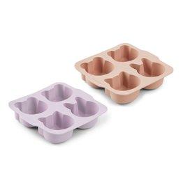 Liewood Mariam Cake Pan 2 Pack - Light lavender rose mix