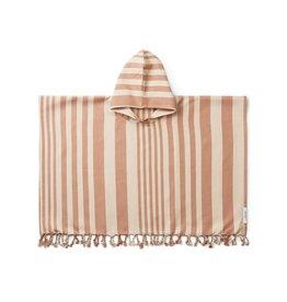 Liewood Roomie Poncho - Y/D Stripe: Tuscany rose/sandy