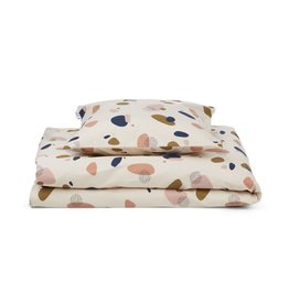 Liewood Carl Bed Linen Adult - Bubbly sandy