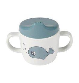 Done by Deer 2-handle spout cup Sea friends Blue