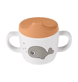 Done by Deer 2-handle spout cup Sea friends Mustard/Grey