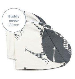 Doomoo Buddy Pillow Cover Giraf Grey