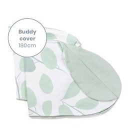 Doomoo Buddy Pillow Cover Leaves Aqua Green