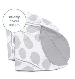 Doomoo Buddy Pillow Cover Leaves Grey