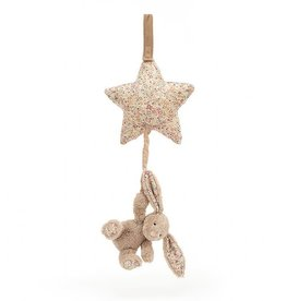 JellyCat Blossom Bea Beige Bunny Musical Pull