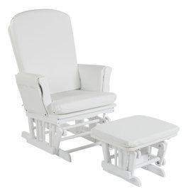 Quax Gliding Chair - Wit - Kussen Leatherlook Wit