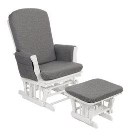 Quax Gliding Chair - Wit - Kussens Linen Grey