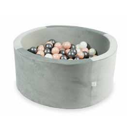 Moje Ballenbad Velvet - Grey - Wit/Roze/Grijs