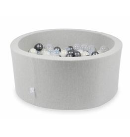 Moje Ballenbad Velvet - Light Grey - Wit/Grijs/Transparant