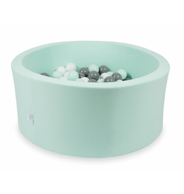 Moje Ballenbad Velvet - Mint - Wit/Grijs/Mint