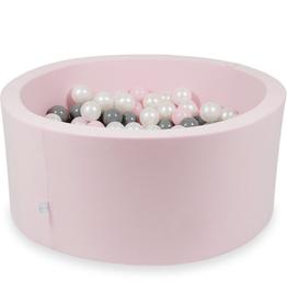 Moje Ballenbad Velvet - Pink - Wit/Grijs/Roze