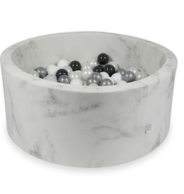 Moje Ballenbad Velvet - Marble - Zwart/Wit/Grijs/Transparant
