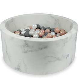 Moje Ballenbad Velvet - Marble - Wit/Grijs/Roze
