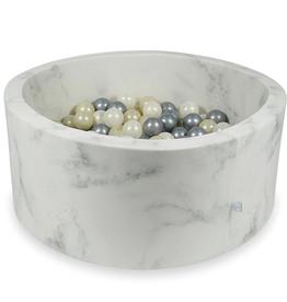 Moje Ballenbad Velvet - Marble - Wit/Grijs/Beige