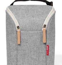 Skip Hop Grab & Go Double Bottle Bag - Grey Melange