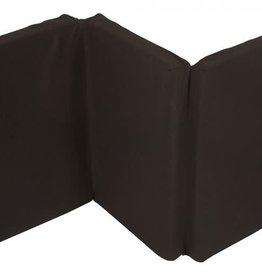 Nattou Matras voor reisbed microfiber zwart