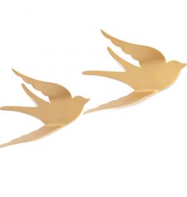 KidsDepot Bibi wand vogels - Goud