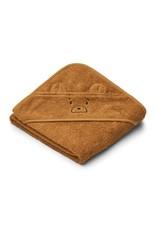 Liewood Albert Hooded Baby Towel - Mr bear golden caramel