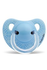 Suavinex Anatomical - Soother - Sili. - Flat - 0/6M - Blue Weave