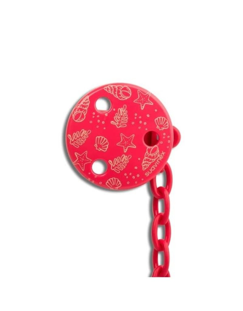 Suavinex Anatomical - Soother clip round - Red sea