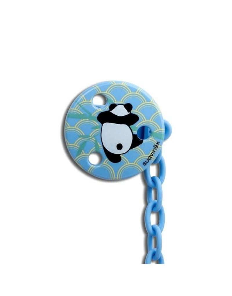 Suavinex Anatomical - Soother clip round - Blue panda