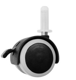 Bopita Set wieltjes 40 mm (4) met rubber zwart