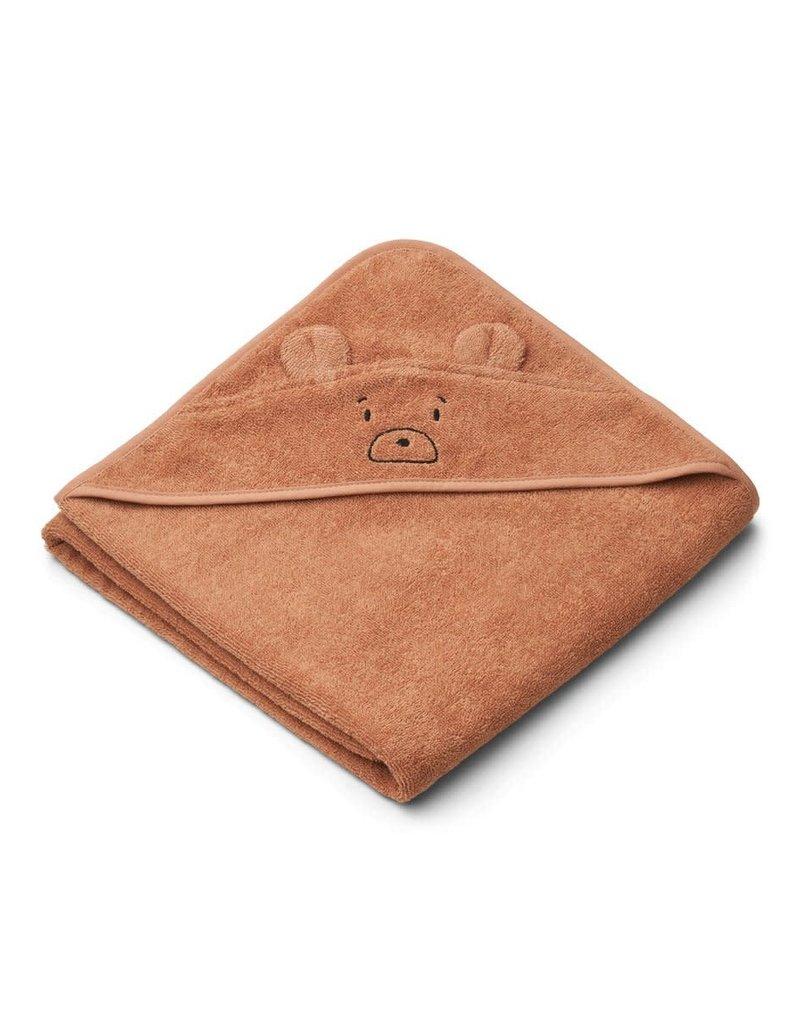 Liewood Augusta Hooded Junior Towel - Mr bear tuscany rose