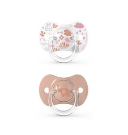 Suavinex Memories - Soother - Sili. - Reversible - 6/18M - Pink DUO