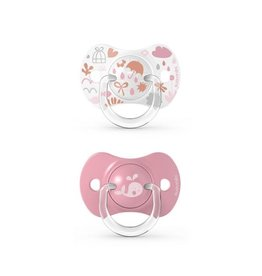 Suavinex Memories - Soother - Sili. - Reversible - +18M - Pink DUO