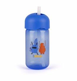 Suavinex Feeding - Booo - Straw Bottle - Blue