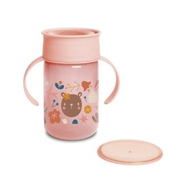Suavinex Forest - 360 Trainer Cup - 12M+ - 340ml  - Pink