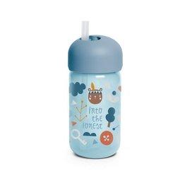 Suavinex Forest - Straw Bottle - Blue