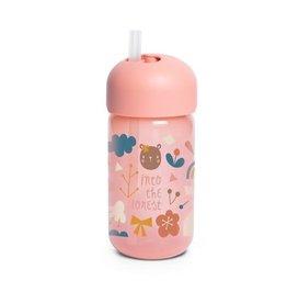 Suavinex Forest - Straw Bottle - +18M - 340ml -  Pink