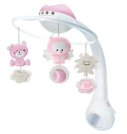Infantino WOM - Musical 3 in 1 projector mobile - Pink