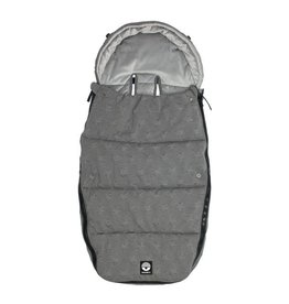 Dooky Footmuff L - Knitted Star Grey