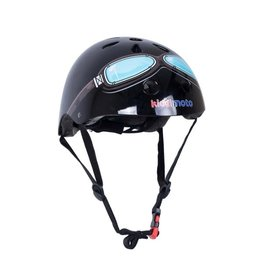 KiddiMoto Helmet - Black Goggle - M