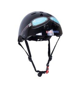 KiddiMoto Helmet - Black Goggle - S