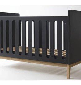 Pericles Baby Bed 140x70cm Omvormbaar tot zitbank - Pure Black