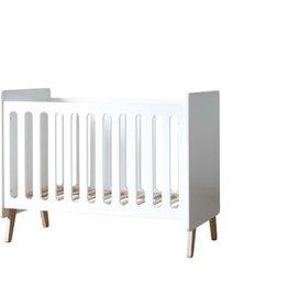 Pericles Baby Bed 140x70cm Omvormbaar tot zitbank - Style White