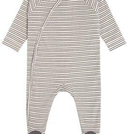 Lässig Pyjama with feet GOTS Striped Grey/Anthra