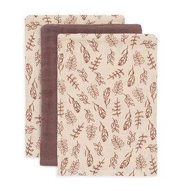 Jollein 3 Hydrophilic Wash Cloths Meadow Chestnut 15 x 20 cm