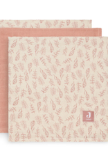 Jollein 3 hydrophilic multi cloths small - Meadow Pink 70x70 cm