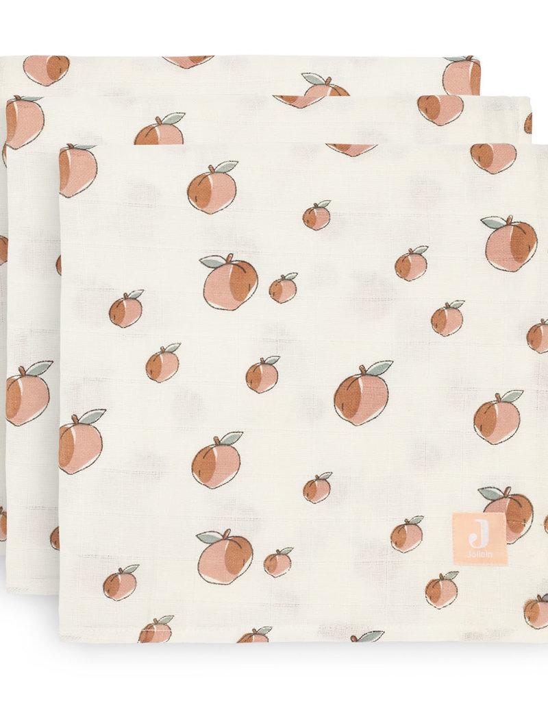 Jollein 3 hydrophilic multi cloths small - Peach - 70x70 cm
