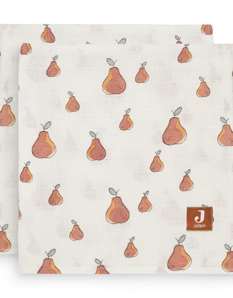Jollein 2 hydrophilic multi cloths Large - Pear - 115x115 cm