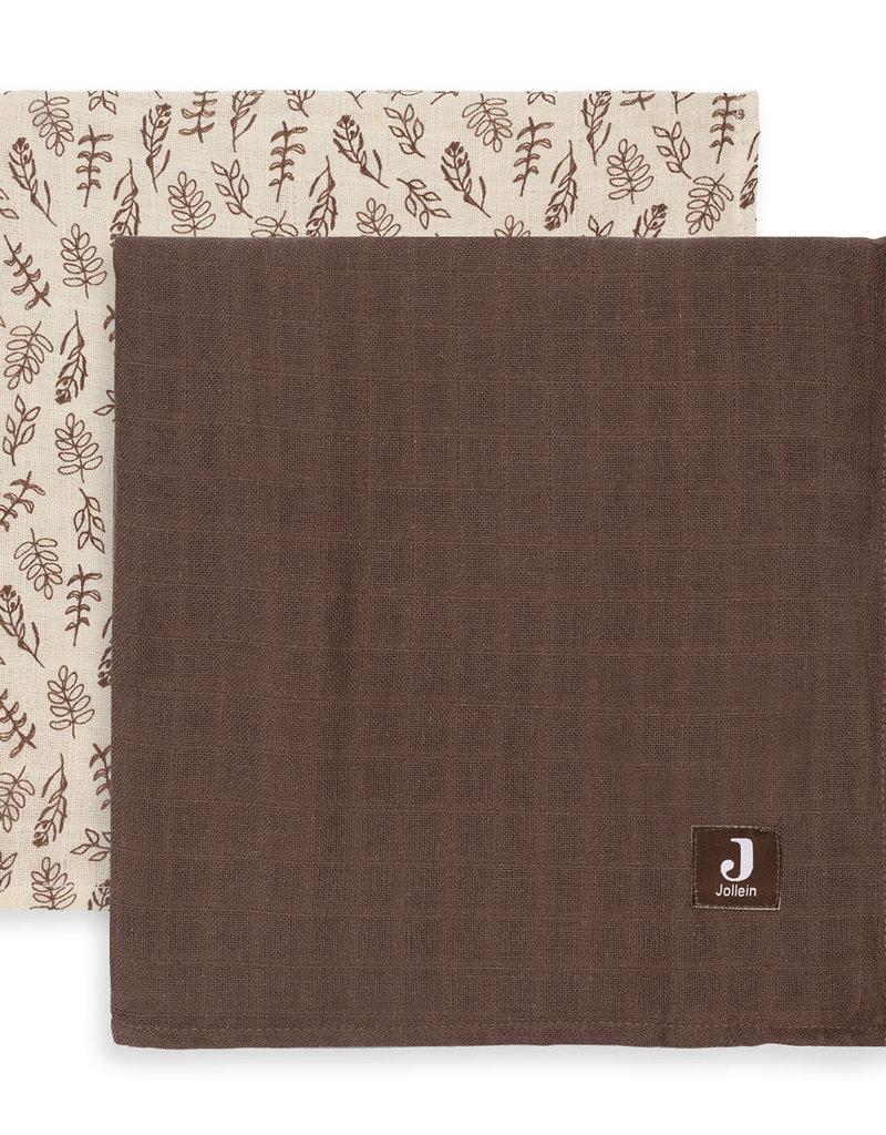Jollein 2 hydrophilic multi cloths Large - Meadow chestnut - 115x115 cm