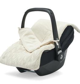 Jollein Voetenzak voor Autostoel & Kinderwagen - Spring Knit - Ivory